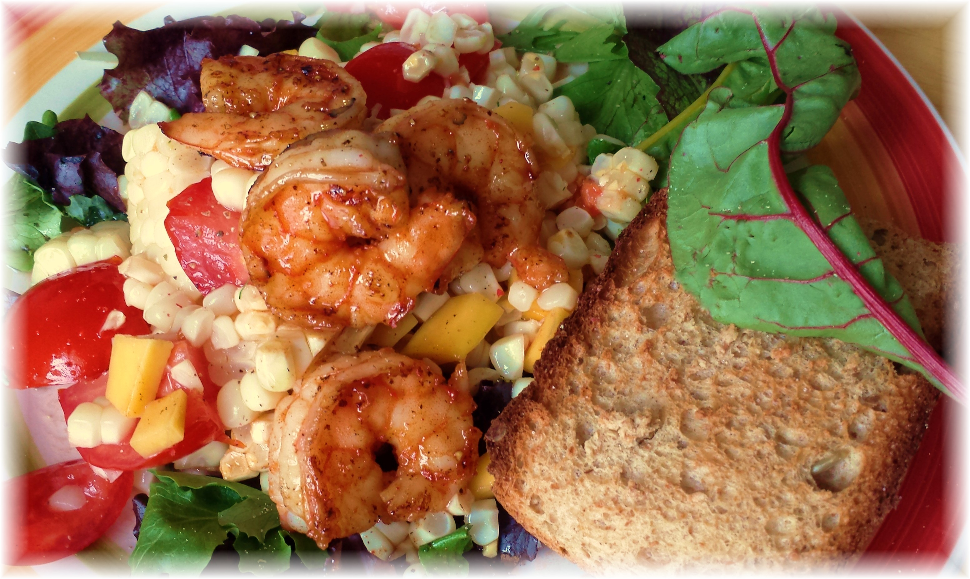 Seared Shrimp over Summer Salad ~ Summertime on a Plate! (Story and ...