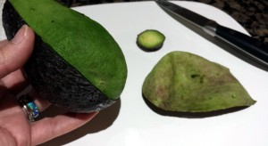 Score skin & peel the Avocado